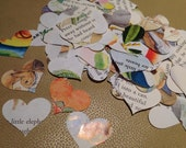 Confetti from Childrens Books Sweet Mix Over 500 Heart Punches - Rippy Bits by TangoBrat Ready to Ship