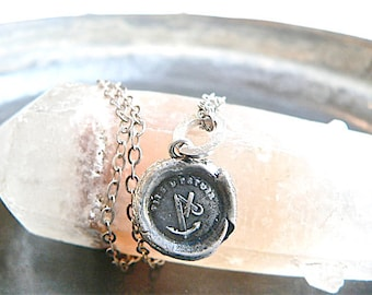 HOPE & FAITH,  Handmade Wax Seal Necklace, Keep Hope, Stay POSITIVE,  Sterling Silver Jewellery