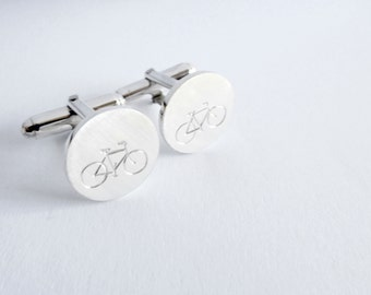Bicycle cufflinks Cyclist cufflinks bike cufflinks sterling silver cufflinks groomsman gift groom gift