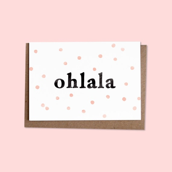 OHLALA  Greetings card + recycled envelope