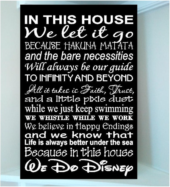 Beautiful Disney Famous Movie Quotes Wooden By