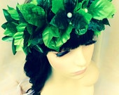Limited ~ Womens Grecian Costume Wreath Headband - Day Of The Dead - Ever Green Forest Fairy Cosplay Headpiece