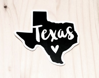 Texas Love Vinyl Sticker