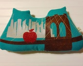"Custom ""Sailboat"" Brooklyn Bridge Pillow"