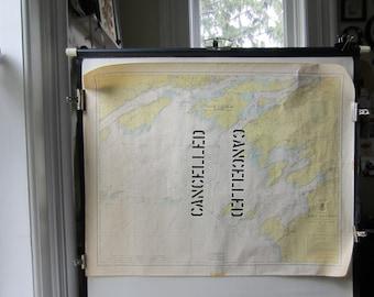 Vintage Lake Ontario Cancelled Navigational Map 1962 - US Army Lake Survey Chart No 21