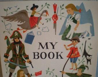 Vintage Mid Century Unused Illustrated Book Plate