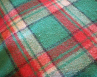 Vintage Mid Century Large Plaid Blanket