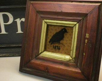Primitive Folkart Punch Needle or Hooked Rug Crow PATTERN ONLY