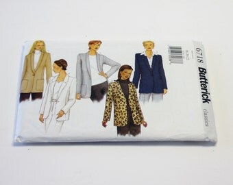 Butterick 6718 Sewing Pattern: Misses' Jacket Pattern (UNCUT) Sizes 18-22 - Women's Clothing Pattern