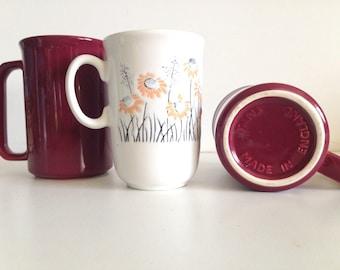 Trio of Ceramic Mugs - Made in England
