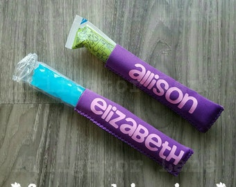 Freeze Pop Holders Popsicle Sleeve Ice Pop Go gurt Yogurt Tube Holders Customized Freezepop Holders Summertime Fun Cool Pop Popsicle Sleeves