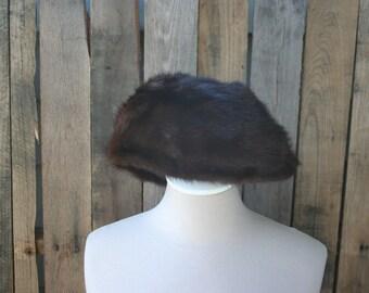 Vintage 1950 Mink Hat by Nordischer Nerz from Germany