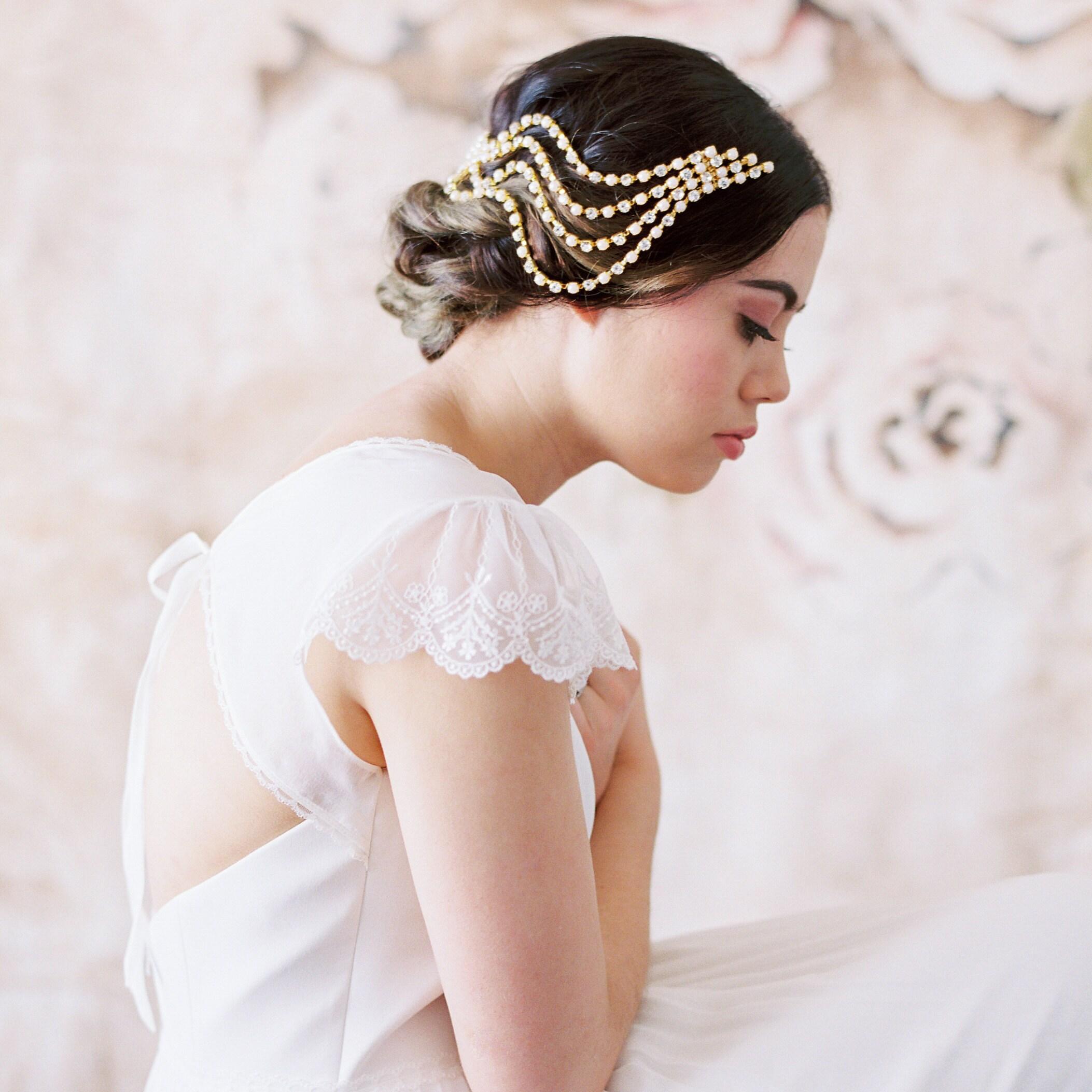 flapper headpiece vintage inspired bridal headband the