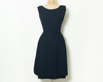Vintage Dress / 50s dress / Evening / Cocktail / Party dress / Black dress / Flapper style / party dress / evening dress  Little black dress