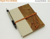 MOVING SALE Refillable Pocket Journal, Notebook, Sketchbook, with Suede Cord and Interior Pocket