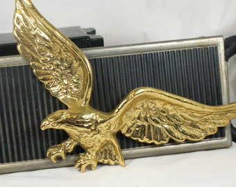Flying Brass Eagle from Virginia metal crafters wall hanging plaque
