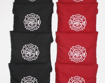 FIRE DEPARTMENT Dept. Cornhole ACA Embroidered Bean Corn Toss Bags Regulation New