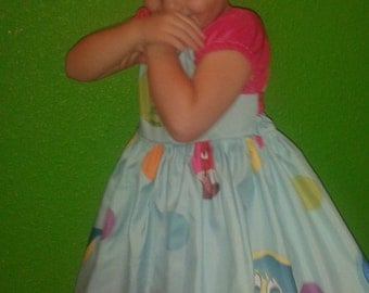 Girls inside out disgust and joy custom made to Order dress