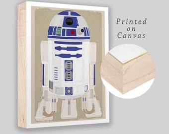 "R2D2 Star Wars character - Box Frame canvas print - 8""x10"" - Star Wars character - Boys room decor - Starwars fan gift - Ready to hang!"