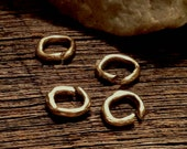 Artisan Jump Ring 10 Open Handcrafted Links  or Connectors - 9.5mm  APB38a