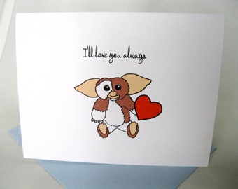 INSTANT DOWNLOAD Valentine's Day Gremlins Love Card