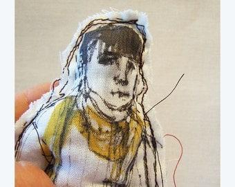 textile doll Jeff boy man fabric Real People handmade original art hand painted ooak soft toy gift home decor souvenir