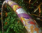 FLoRaL FiLiGrEe Collapsible Fabric Hula Hoop // Custom Tubing, Diameter & Grip Color // Hiptronic Arts Exclusive!