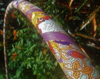 FLoRaL FiLiGrEe Collapsible Fabric Hula Hoop // Custom Tubing, Diameter & Grip Color // Hiptronic Arts Exclusive!