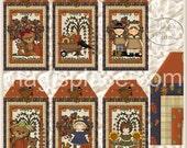 Prim Thanksgiving - Digital Collage Sheet - Set of 6 Gift Tags - Printable Sheet ThkTag1