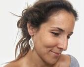 Silver Leaf Earrings, Filigree Earrings, Silver Filigree,Silver Dangle