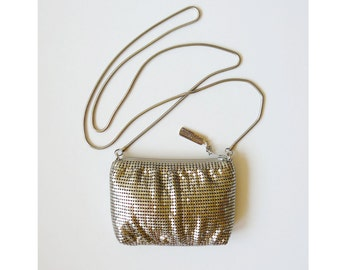 Whiting & Davis Petite Silver Mesh Evening Shoulder Bag
