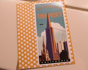 California Vintage Card -- San Francisco, Trans America