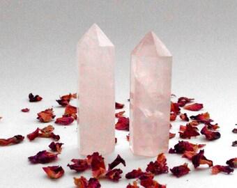 Rose Quartz Tower Medium- polished crystal, crystal healing, healing crystal, love crystal, Reiki healing