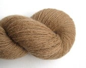 Reclaimed Cashmere Yarn, Heavy Lace Weight, Iced Coffee, 470 Yards, Light Brown Yarn, Lot 020316