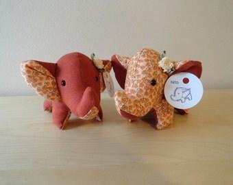 Tiny Stuffed Best Friends Elephants- Rita and Nita
