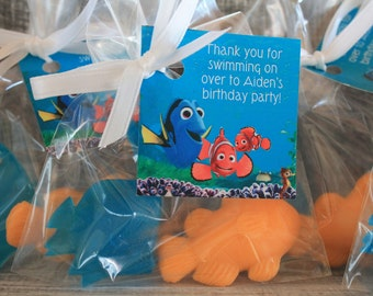 15 Nemo and Dory Party Favor Soaps, Birthday Favors, Summer Birthday, Wedding Favors, Beach Party, Pool Party, Baby Shower Favors