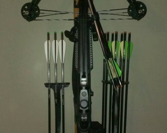 Crossbow and Bolt Rack for Archery