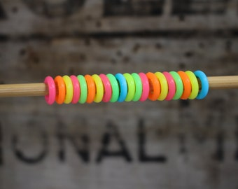 Snag Free Silicone Knitting Stitch Markers- Size Small, Snagless Silicone Knitting Stitch Markers, Gift for Knitters, Knitting Notions