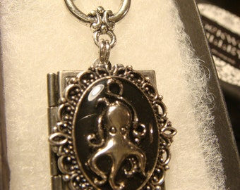 Steampunk Style Octopus Book LOCKET Necklace (2009)