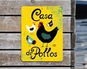 """Casa De Pollos 9"""" X 12"""" Seaport Collection- Lemon SKU: SN912646"""