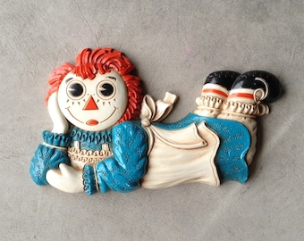 Vintage Raggedy Ann Wall Decor, Wall Hanging, Wall Plaque, 1977