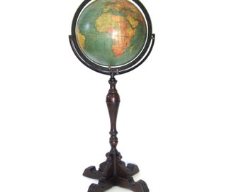 Vintage World Globe c1928-29 W. & A.K. Johnston Retailed by the Kittinger Co.