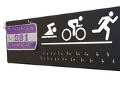 Triathlon - Triathlon medal holder - Triathlon gifts - Triathlon art - Ironman Triathlon - swim.bike.run - I tri Triathlon