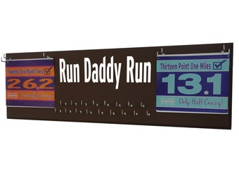 Running medal holder - holder for medals, gifts for dad, dad gifts, run daddy run, Gifts for runners , runner dad, present for father