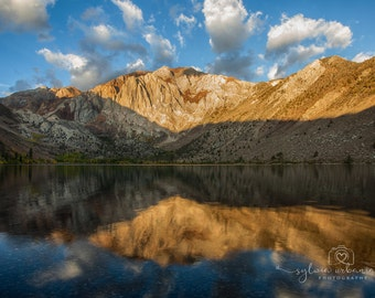 Mountain Photography Landscape Photography Nature Photography  Morning Clouds Sunrise Convict Lake home decor  Fine Art Photography Print
