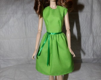 Cute lime green modest dress for Fashion Dolls - ed897