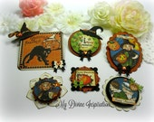 Graphic 45 Happy Haunting Handmade Paper Embellishments and Tags for Scrapbooking Cards Mini Albums and Papercrafts