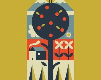 Folk Art print -A New Day- by TracyWalkerInk