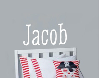 Boys Name Wall Decal  kids children Vinyl Lettering wall decals words family bedroom hallway Monograms stickers decal graphics Home decor it
