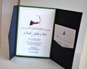 Beach Foil custom invitation